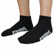 Struddys Ankle Sock Black/White Text on Foot