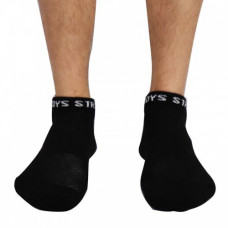 Struddys Ankle Sock -Black/White Struddys Text