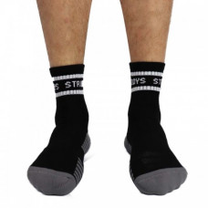 Struddys Crew Socks -Text -Black/Grey/White