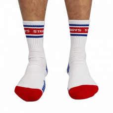 Struddys Crew Socks -Text -White/Red/Royal