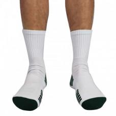 Struddys Crew Socks -Vertical Text -White/Bottle/Black
